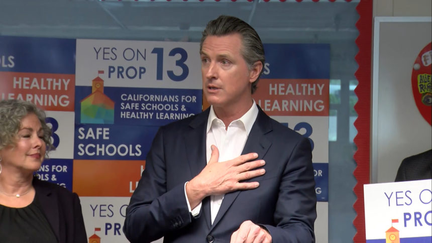 GOVENOR GAVIN NEWSOM IN PALM SPRINGS