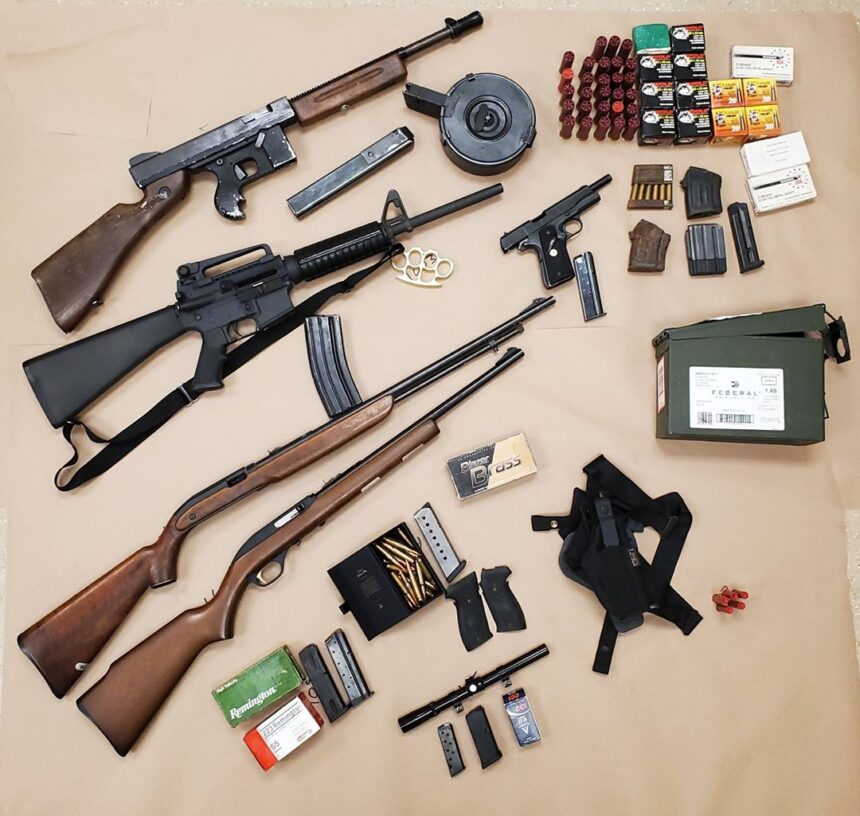 firearms and weapons seized in Coachella