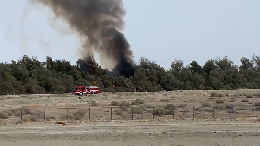 indio fire pic