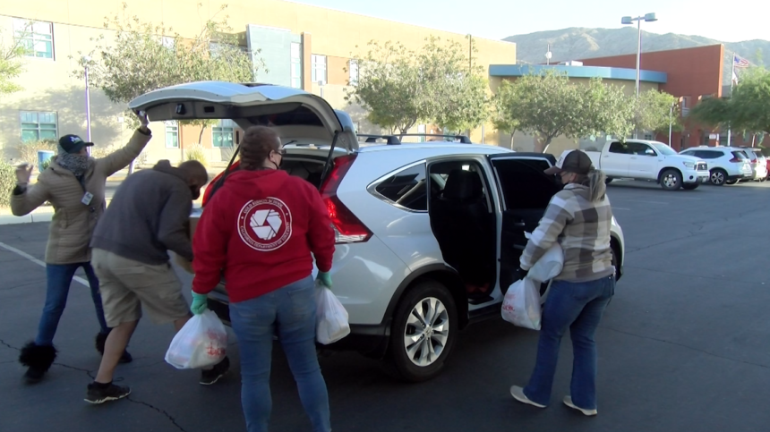 Painted Hills Middle School food distribution