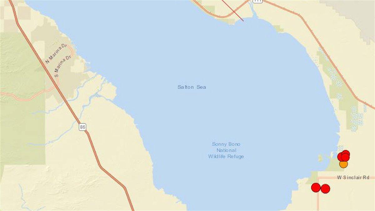 M4.0 largest recorded earthquake in a quake swarm near the Salton Sea - KESQ
