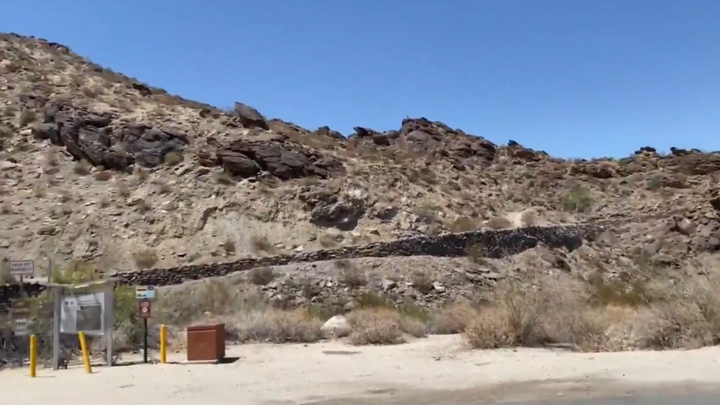 North Lykken trail in Palm Springs (Courtesy of the Palm Springs Fire Department)