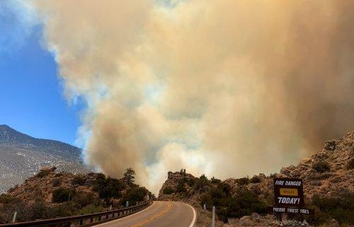 Flats Fire, courtesy San Bernardino National Forest