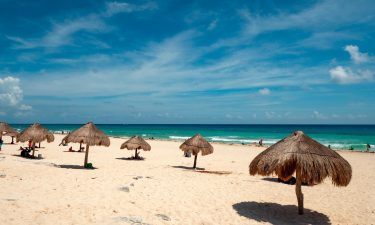Life's a beach on the sands around Cancun.