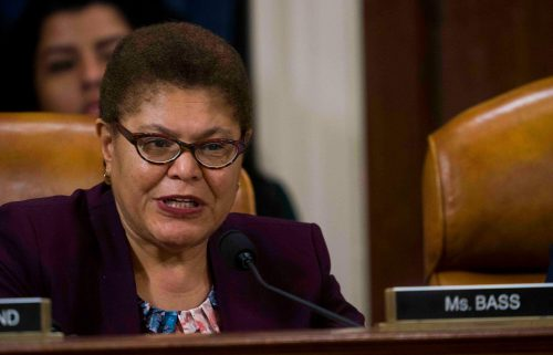 Bipartisan talks on overhauling America's policing practices are hung up on a key issue: Whether Congress should include new standards for when officers can be charged with crimes. Rep. Karen Bass of California is the lead negotiator for House Democrats.