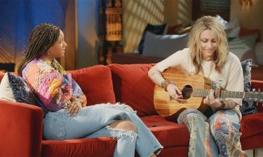 """Paris Jackson played an original tune for Willow Smith during a special takeover episode of """"Red Table Talk."""""""