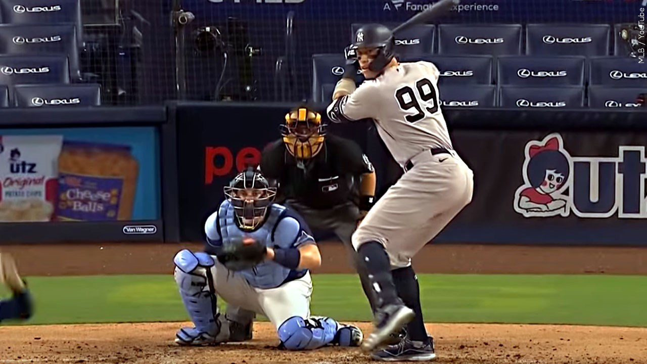 Aaron Judge, outfielder for the New York Yankees up at bat