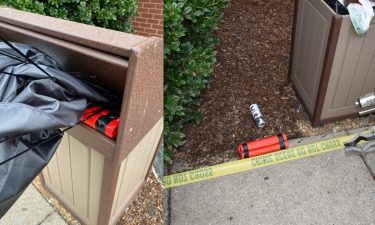 """An investigation is underway after a """"lookalike bomb"""" was placed in an outdoor trashcan on Tuesday afternoon in Franklin."""