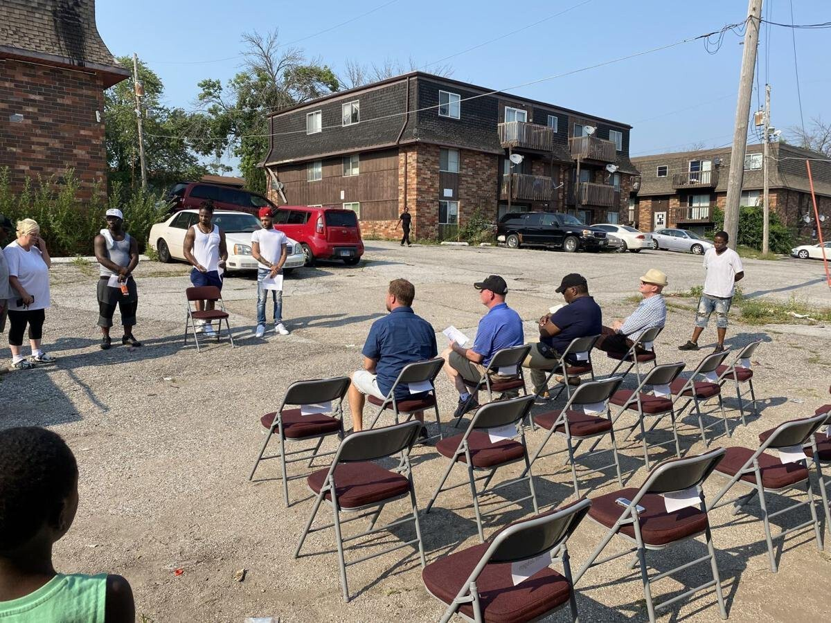 <i>Quad City Times</i><br/>Tenants of Crestwood Apartments held a public forum to voice their frustrations and concerns and asks questions of city of Davenport and Scott County officials about available relocation assistance and to plead for additional time to find new housing.