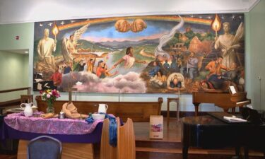 Haywood Street Congregation's fresco honors people that the church has helped
