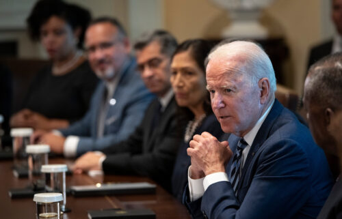 U.S. President Joe Biden speaks at the start of a Cabinet meeting in the Cabinet Room of the White House on July 20