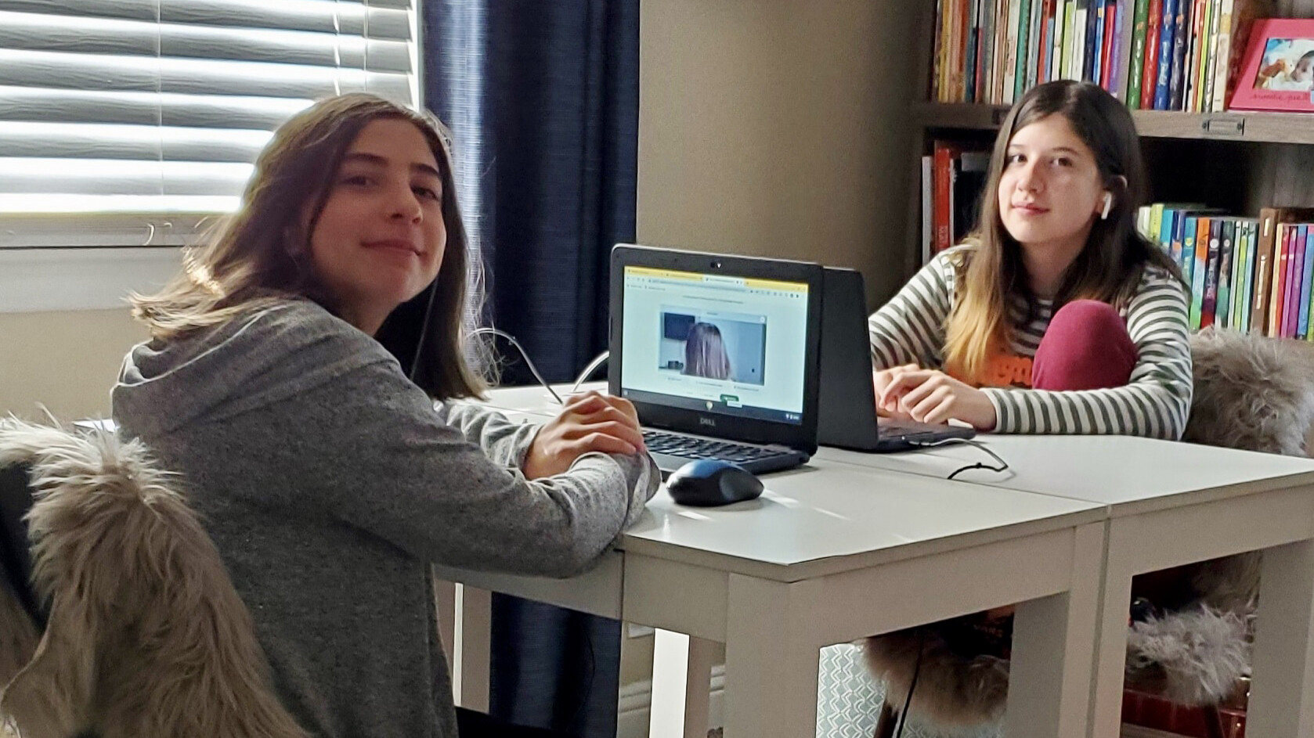 <i>Courtesy Samantha Lucero</i><br/>Samantha Lucero's two daughters prefer different learning methods