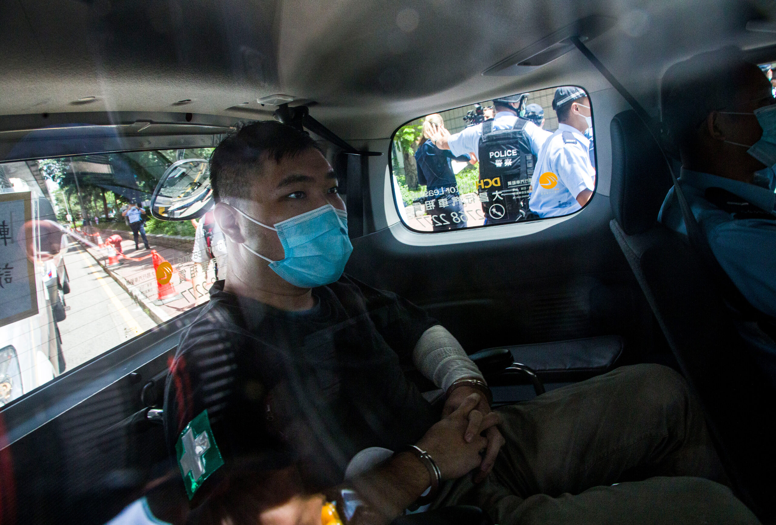 <i>Getty Images</i><br/>Tong Ying-Kit arriving in court on July 6