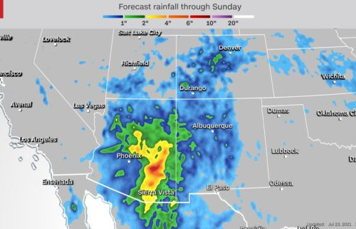 A surge of monsoonal moisture is bringing rounds of heavy rain and strong thunderstorms to areas of the Southwest that are currently suffering from extreme to exceptional drought conditions.