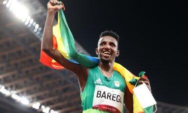 Selemon Barega celebrates 10