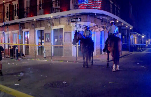 Five people were wounded in a shooting near Bourbon Street in New Orleans on August 1.