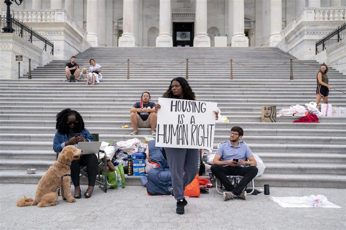 <i>Stefani Reynolds/Bloomberg/Getty Images</i><br/>Rep. Cori Bush