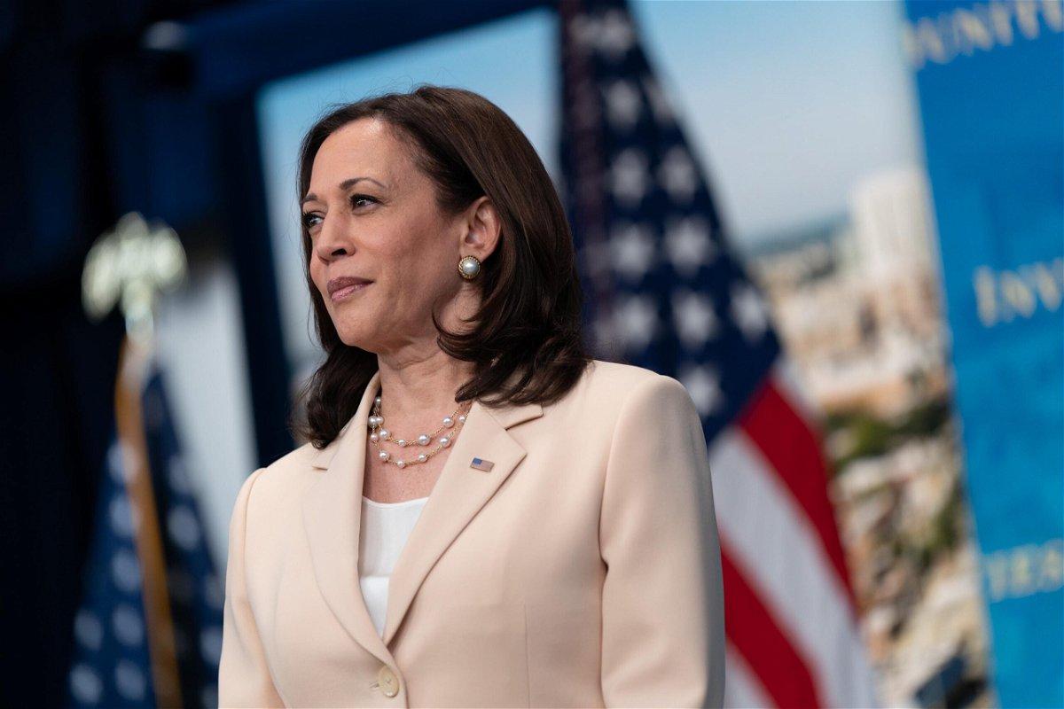 <i>Chris Kleponis/CNP/Bloomberg/Getty Images</i><br/>Vice President Kamala Harris