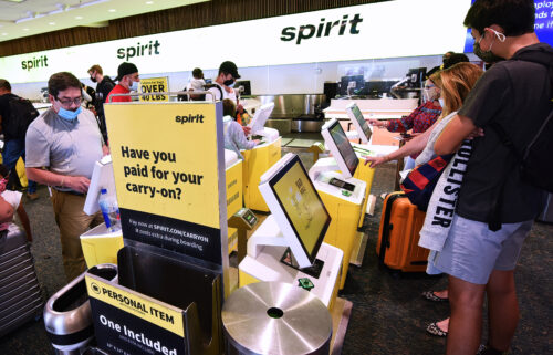 Spirit Airlines enters third consecutive day with significant disruptions. Travelers here check in for a Spirit Airlines flight at Orlando International Airport on the Friday before Memorial Day.