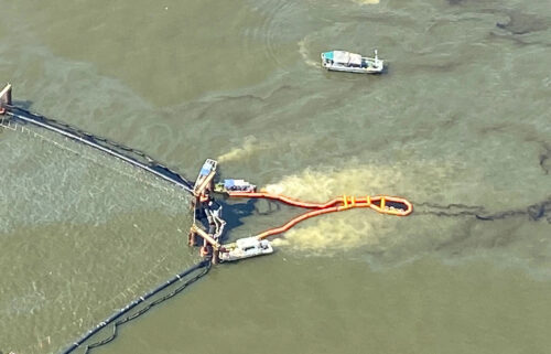 Teams are working to clean up an oil spill that happened during work on the Golden Ray shipwreck near Georgia's Jekyll and St. Simons islands
