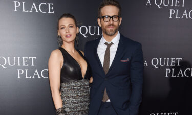 """Blake Lively and Ryan Reynolds recreate their first date for their 10-year anniversary. The couple are seen here at the """"A Quiet Place"""" premiere on April 2"""