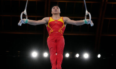 China's Liu Yang won gold in the gymnastics men's rings event at the 2020 Tokyo Olympics.