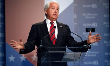 Republican John Cox speaks during a debate between candidates for the upcoming California recall election