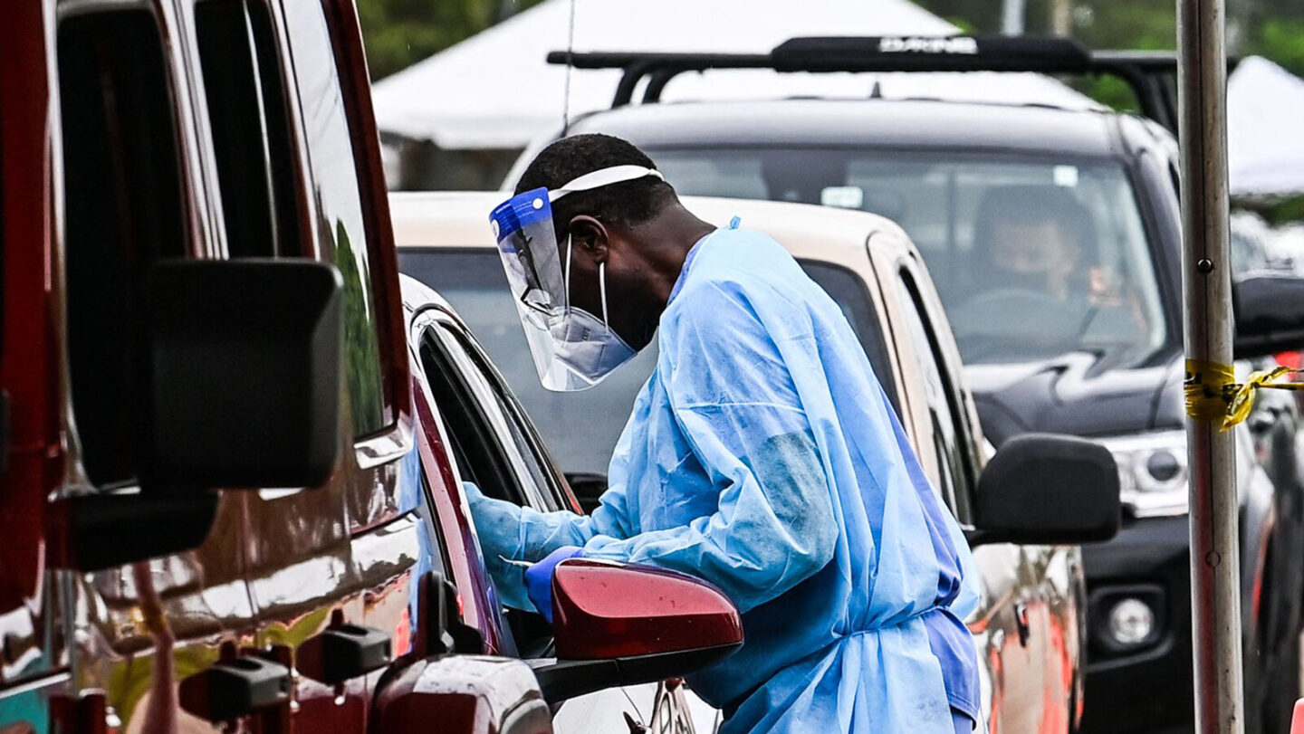 <i>Chandan Khanna/AFP/Getty Images</i><br/>Coronavirus testing in the US is down from where it has been at previous points in the pandemic and pictured