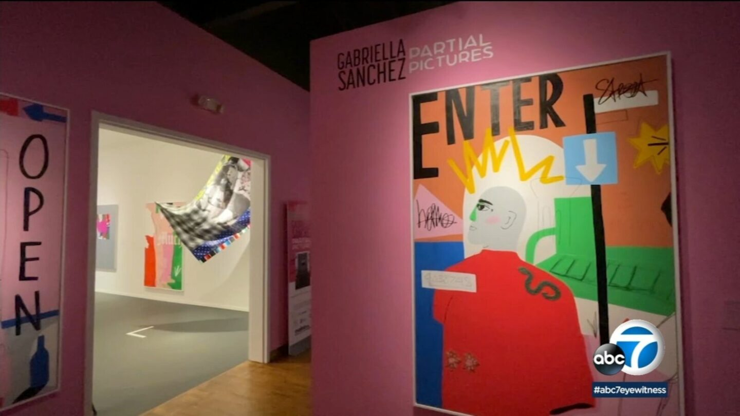 <i>KABC</i><br/>Partial Pictures is an exhibit in Long Beach by 33-year-old artist Gabriella Sanchez.
