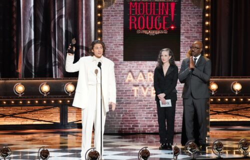 Aaron Tveit speaks after winning Winner Best Performance by an Actor in a Leading Role in a Musical