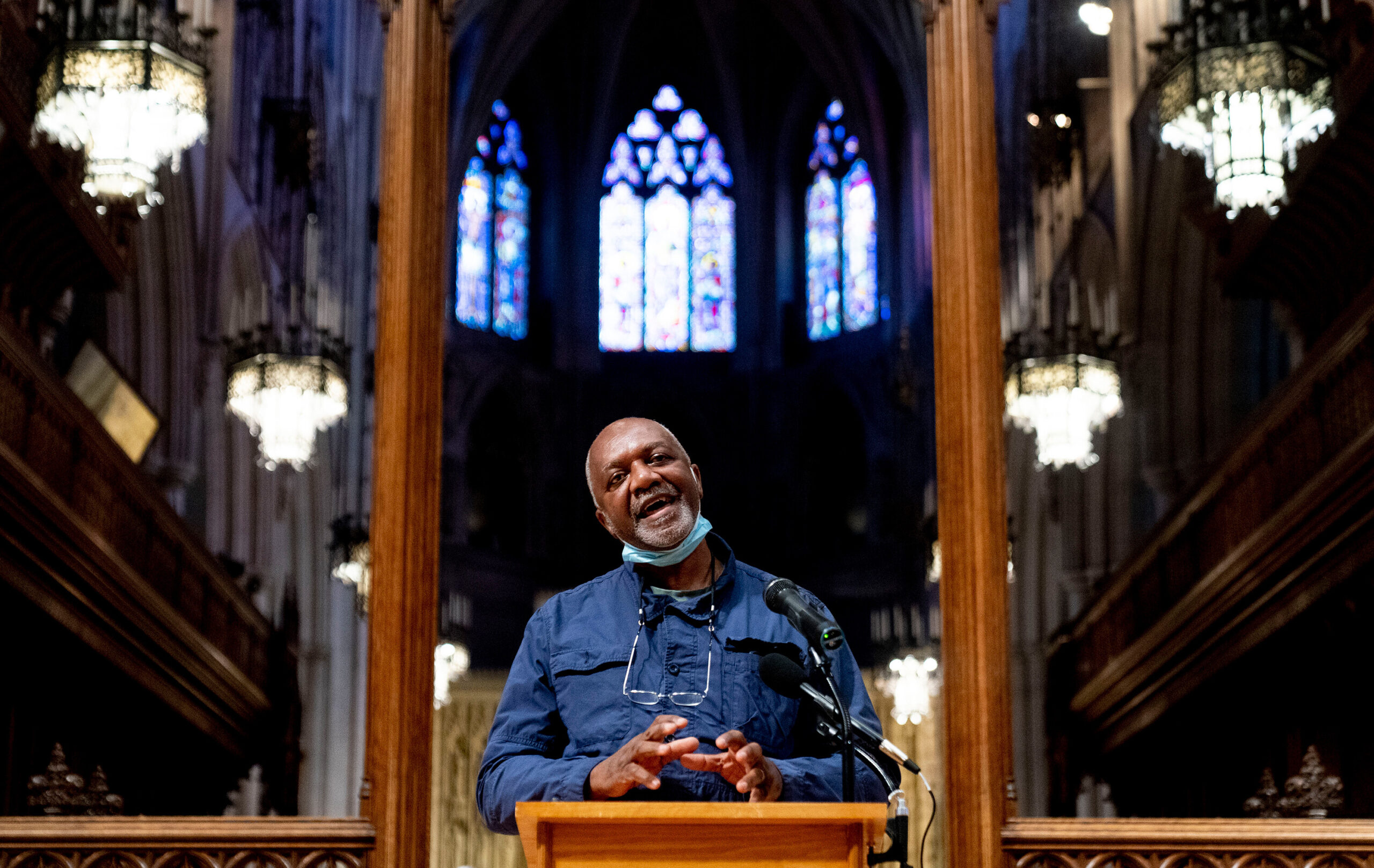 <i>Andrew Harnik/AP</i><br/>The Washington National Cathedral announces that its commissioned renowned artist Kerry James Marshall to create