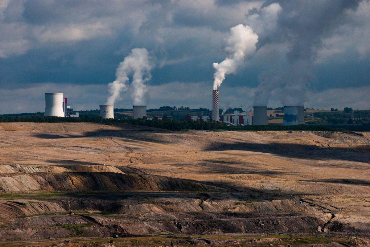 <i>Sarah Tilotta/CNN</i><br/>The Turów lignite mine is seen here in southwestern Poland in 2020.