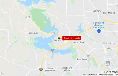 Two pilots were hospitalized September 19 after each ejected from a military training jet that crashed in a residential neighborhood in Lake Worth