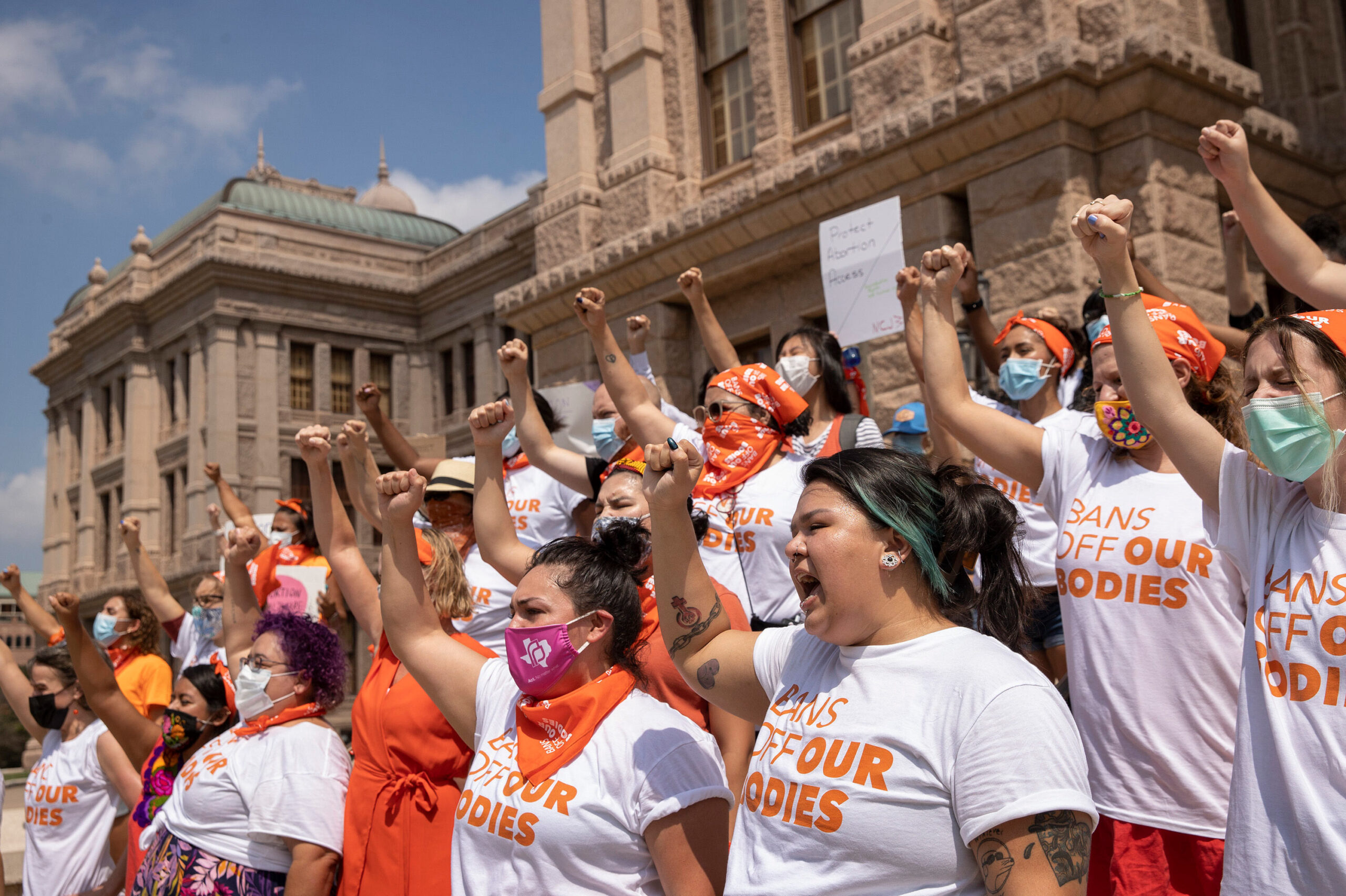 <i>Jay Janner/Austin American-Statesman/AP</i><br/>A federal judge set a hearing date for October 1 to consider a request from the Justice Department to freeze a Texas law that bars most abortions after six weeks of pregnancy