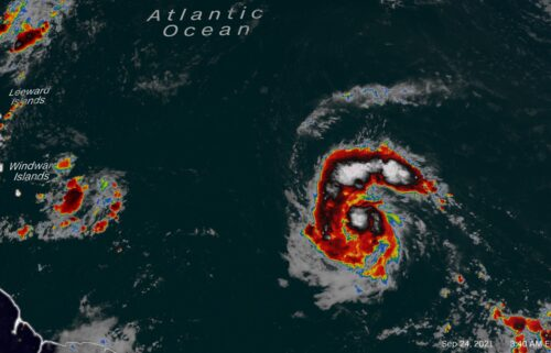 Hurricane Sam is rapidly strengthening over the open Atlantic