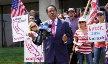 Republican candidate Larry Elder