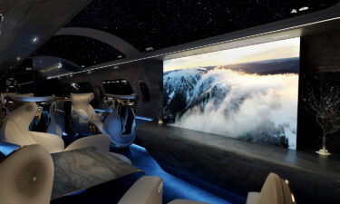 The Maverick Project replaces traditional porthole cabin windows with virtual screens.