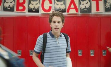 Ben Platt in the movie adaptation of the musical 'Dear Evan Hansen.'
