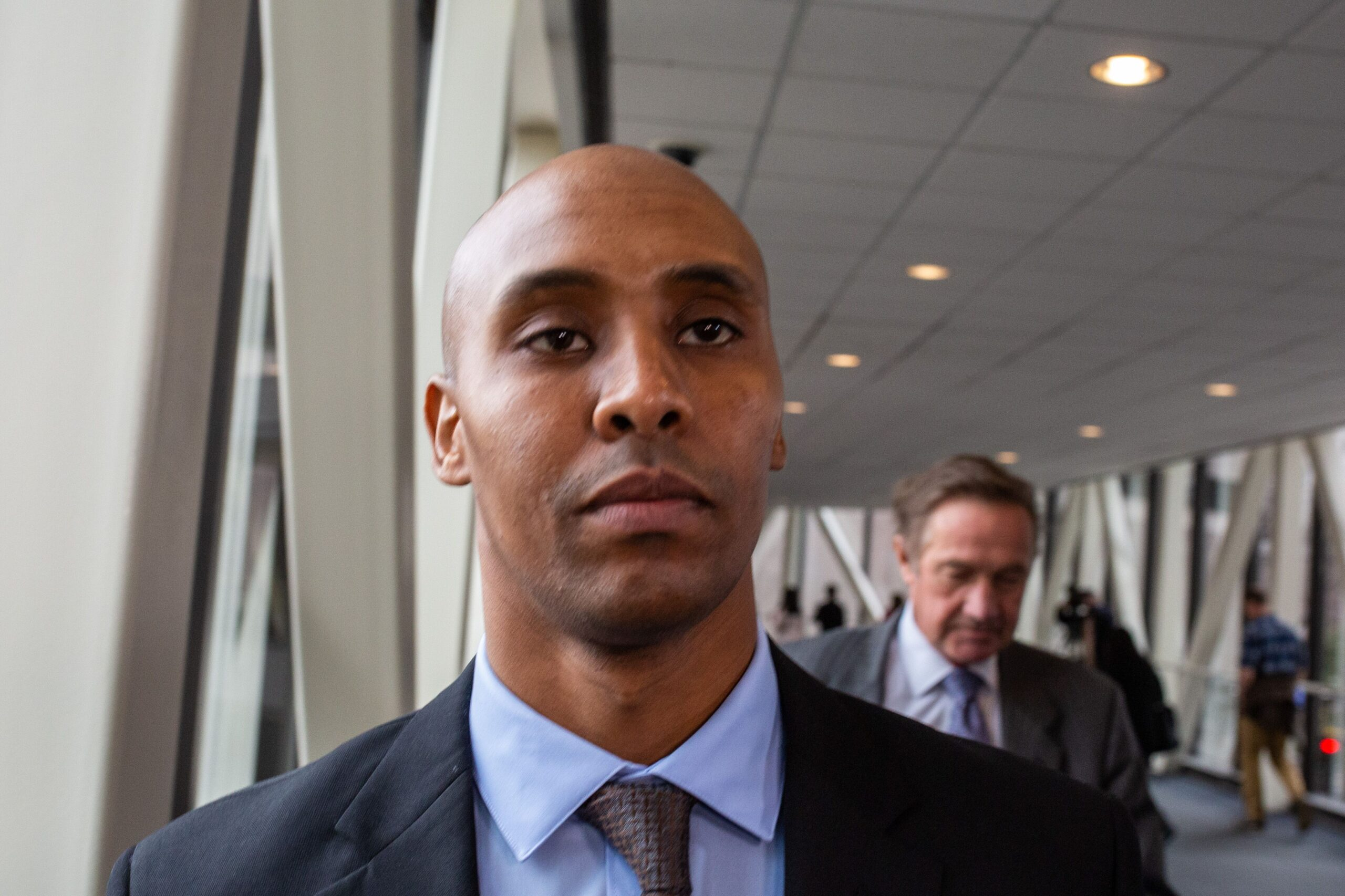 <i>Kerem Yucel/AFP//Getty Images</i><br/>A Minnesota court on Wednesday vacated former Minneapolis police officer Mohamed Noor's 3rd-degree murder conviction. Noor is seen here in Minneapolis