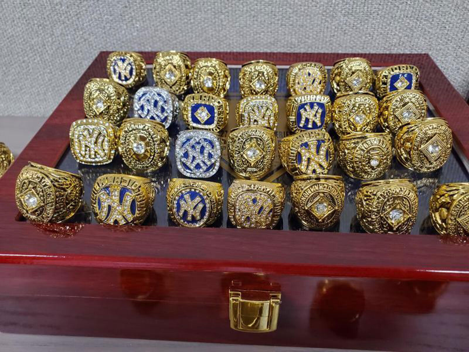 <i>US Customs and Border Protection</i><br/>US Customs and Border Protection officers seized 86 counterfeit championship rings in Chicago.