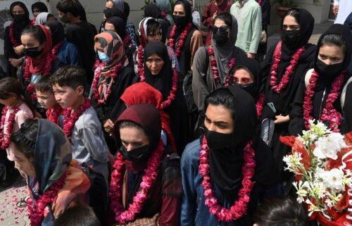 Members of Afghanistan's girls football team have arrived in Pakistan.