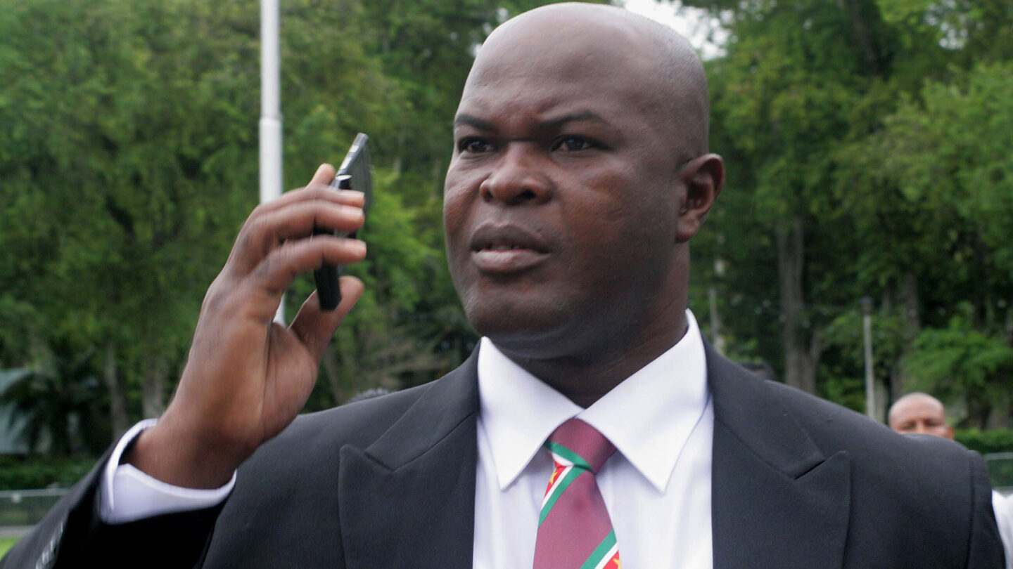 <i>Louis ALFAISIE/AFP via Getty Images</i><br/>Brunswijk has been Suriname's vice-president since July 2020.