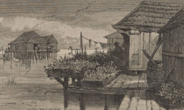 """""""Bits of Saint Malo Scenery"""" pictured in Harper's Weekly in March of 1883."""