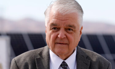 Nevada Gov. Steve Sisolak was injured in a two-car accident in Las Vegas Sunday