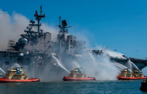 A Navy investigation says the fire that destroyed US warship USS Bohhomme Richard was caused by a chain of errors and was 'clearly preventable'.