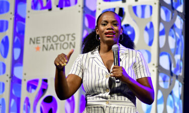 Pennsylvania state Rep. Summer Lee formally entered the primary in the state's 18th Congressional District on Tuesday. Lee is shown here speaking at the Netroots Nation convention in Philadelphia in 2019.